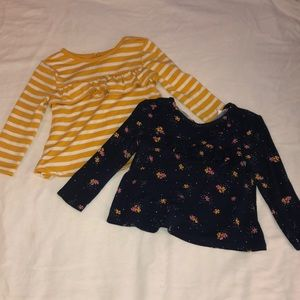 2 flowy shirts for toddler girl!